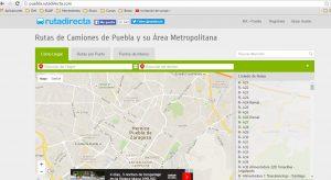 Interfaz Puebla Ruta Directa